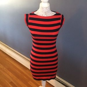 French Connection Dresses - French Connection Striped Bodycon Cotton Dress